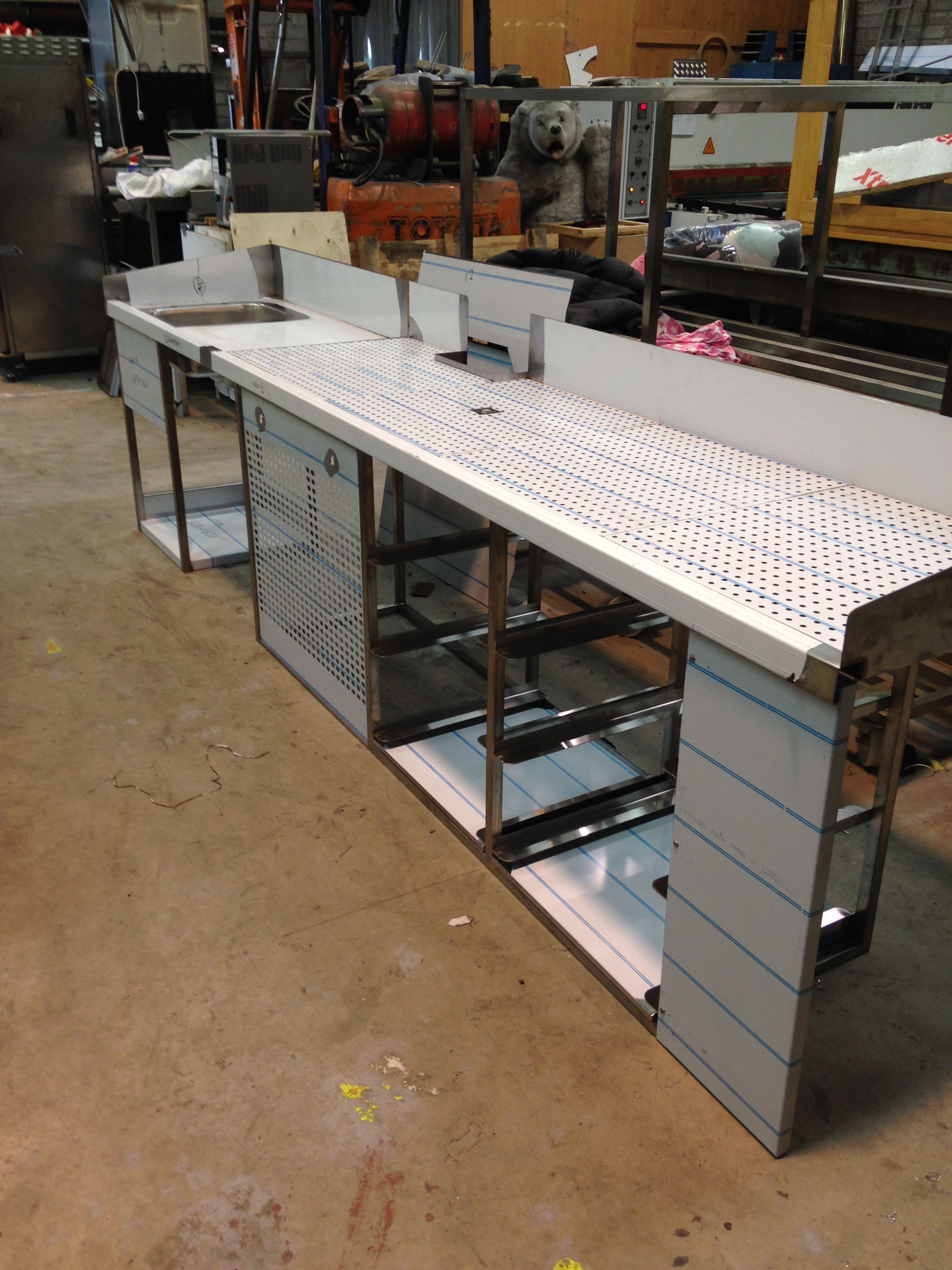 Stainless Steel Bar Counters - BKR Stainless Steel Catering ...