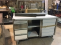 Neutral counter cw sliding doors and drawers