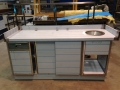 Neutral counter with drawer, doors and hand wash bowl 1