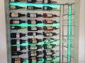 Wine bottle and wine glass holder c_w lights 1