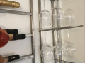 Wine bottle and wine glass holder c_w lights 2
