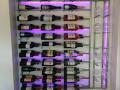 Wine bottle and wine glass holder c_w lights 6