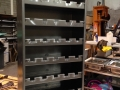 Wine bottle storage unit
