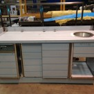 Neutral Counter with Drawer, Doors and Hand Wash Bowl #1